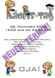 28. November 2009 15:00 Uhr bis 23:00 Uhr