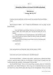 Predigt über Hebräer 11 am 17.02.2008 - Reminiscere