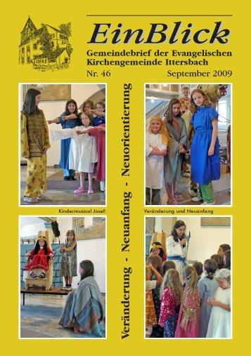 EinBlick Nr. 46, September 2009 - Evangelische Kirchengemeinde ...
