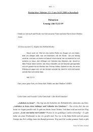Predigt über Hebräer 12 am 16.03.2008 - Palmarum