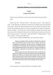 Predigt über Philemon 1 am 18.03.2012