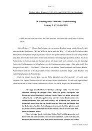 Predigt über Röm 9 am 08.08.2010