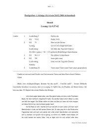 Predigt über 1 Könige 19 am 24.02.2008 - Oculi