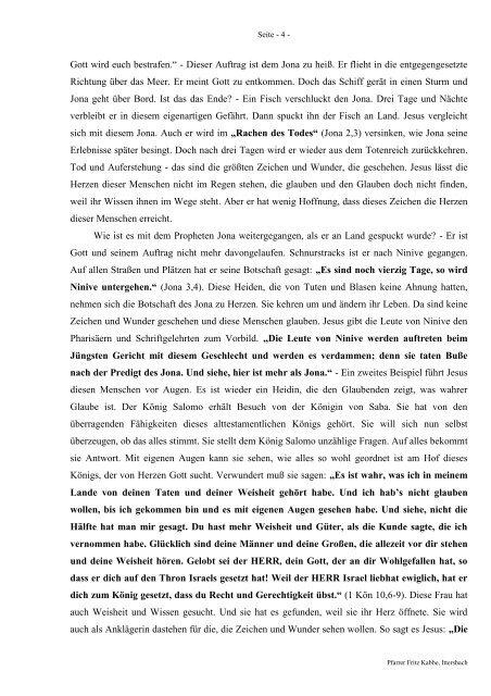 Predigt über Matthäus 12 am 20.03.2011