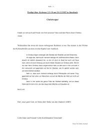 Predigt über Kol 2 am 24.12.2007 - Christvesper