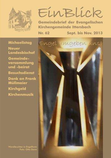 EinBlick Nr 62, September 2013 - Evangelische Kirchengemeinde ...