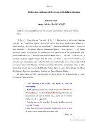 Predigt über Kolosser 2 - Konfirmation am 13.05.2012