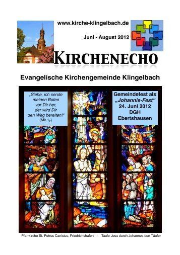 Juni - August 2012 - Evangelische Kirchengemeinde Klingelbach