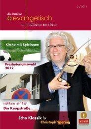 Echo Klassik für - Evangelische Kirchengemeinde Mülheim am Rhein