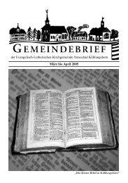 März bis April 2005 der Evangelisch-Lutherischen Kirchgemeinde ...