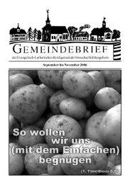 September bis November 2006 der Evangelisch-Lutherischen ...
