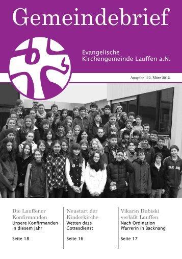 Gemeindebrief - Ev. Kirchengemeinde Lauffen