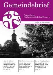 Ausgabe 106, September 2010 - Ev. Kirchengemeinde Lauffen