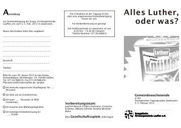 Flyer Löwenstein 2012sw.cdr - Ev. Kirchengemeinde Lauffen