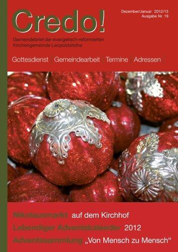 Lebendiger Adventskalender 2012 - Evangelisch-reformierte ...