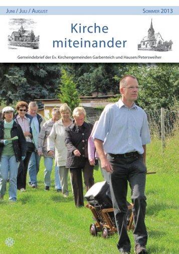 Den kompletten Gemeindebrief herunterladen. - Evangelische ...