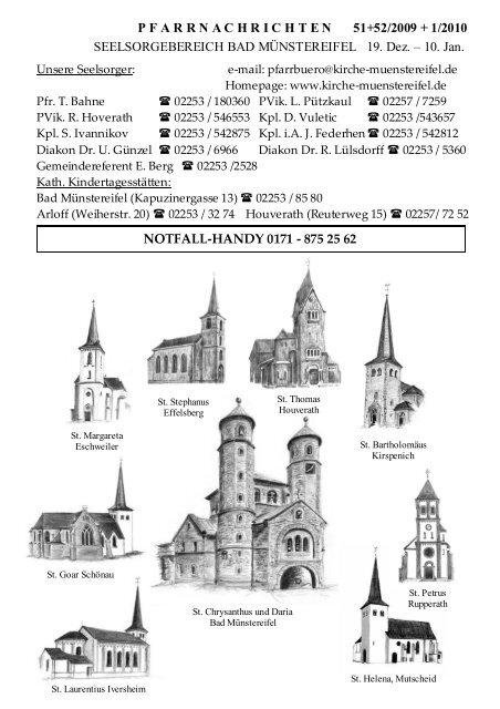 Pfarrnachrichten 51/2009 - Katholischer Seelsorgebereich Bad