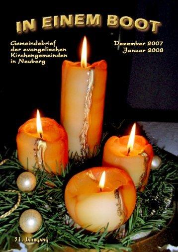 3. Dezember Februar Januar 9. 16. 23. 27. 31. 30 ... - Kirche Neuberg