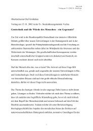 Gentechnik und die Würde des Menschen - ein - Ev.-Luth. Kirche in ...