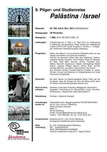 Reiseprogramm u. Anmeldeformular - Evangelische Akademie ...