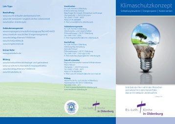 Kurzinfo zum Klimaschutzkonzep - Luth. Kirche in Oldenburg