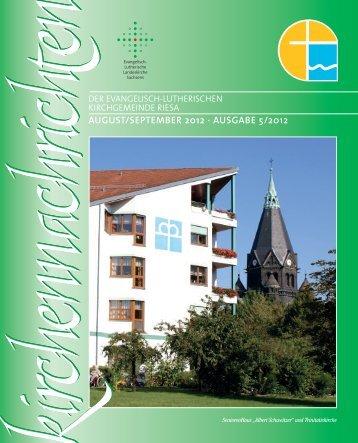 august/september 2012 - Ev.-Luth. Kirchgemeinde Riesa