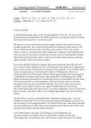 13. Sonntag nach Trinitatis Süderhastedt - hier