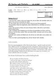 20. Sonntag nach Trinitatis 25.10.2009 - hier