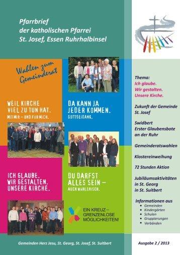 St. Josef, E Ruhrhalbinsel Pfarrbrief 2013,2 ... - Bistum Essen