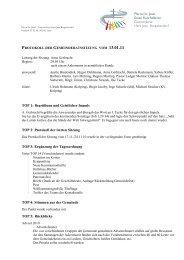 TOP 1: Begrüßung und Geistlicher Impuls TOP 2: Protokoll der ...