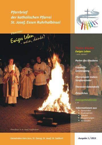 St. Josef, E Ruhrhalbinsel Pfarrbrief 2013,1 ... - Bistum Essen