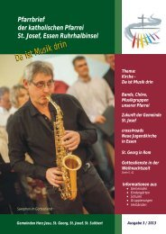 St. Josef, E Ruhrhalbinsel Pfarrbrief 2013,3 ... - Bistum Essen