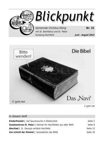 Gemeinde Christus König Nr. 51 In diesem Heft - Bistum Essen