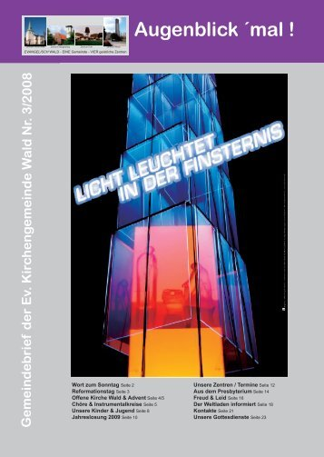 Augenblick mal 3-2008.indd - Evangelische Kirchengemeinde Wald