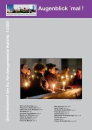 1/2009 - Evangelische Kirchengemeinde Wald