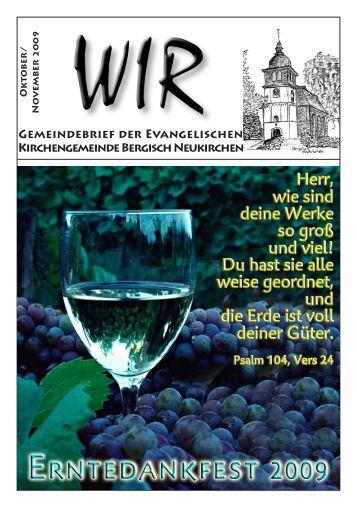 WIR Okt. - Nov. 2009 - Evangelische Kirchengemeinde Bergisch ...