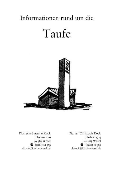 Infos Und Texte Evangelische Kirchengemeinde Wesel