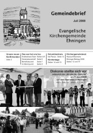 Diakonie stellte sich vor - Kirchen im Kreis Böblingen