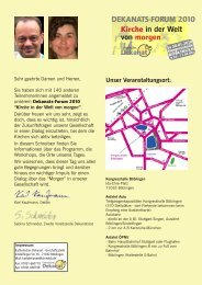Tagesprogramm - Kirchen im Kreis Böblingen