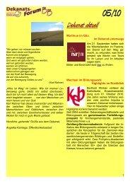 Dekanatsforum BB-online 05-10 - Kirchen im Kreis Böblingen