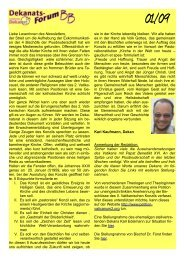 Dekanatsforum BB-online 01-09 - Kirchen im Kreis Böblingen