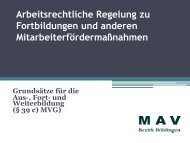 Regelungen zur Fortbildung (pdf)