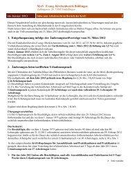 Infos zum Arbeitsrecht im Bereich der KAO, Januar 2013