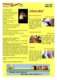 Dekanatsforum BB-online 02-11 - KircheBB
