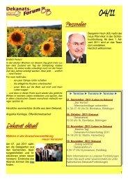 Dekanatsforum BB-online 04-11 - Kirchen im Kreis Böblingen