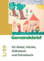 Gemeindebrief 1/09 - Ev.-Luth. Kirchengemeinde Halle Westfalen