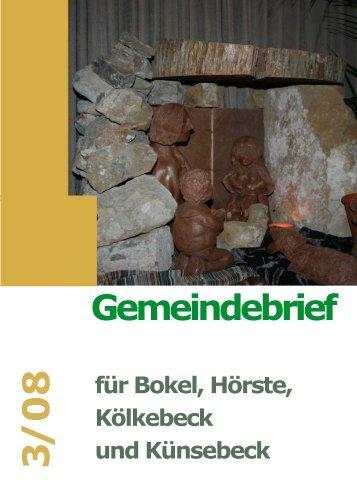 Gemeindebrief 3/08 - Ev.-Luth. Kirchengemeinde Halle Westfalen