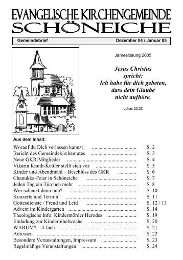 Ausgabe 06/2004 - Kirchen in Schöneiche