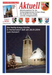 Aktuelles Mitteilungsblatt 04/2014 - Verbandsgemeinde Kirchen, Sieg