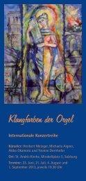 Klangfarben der Orgel - Erzdiözese Salzburg